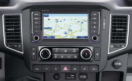 Das 8 Zoll Navigationssystem im Hyundai H350